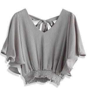 Cropped Top in Grey